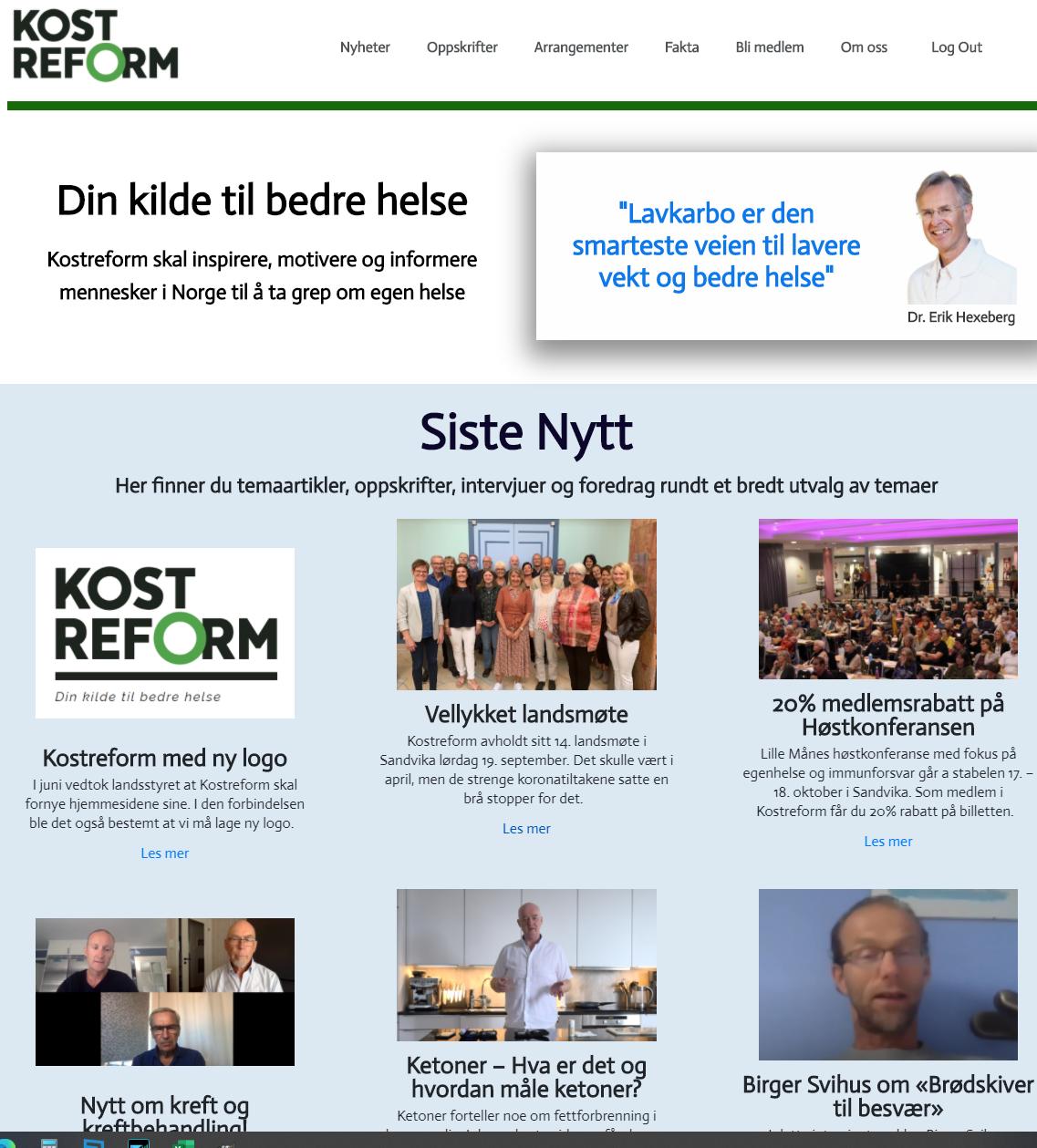 Kostreform har lansert nye nettsider